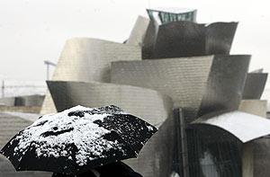 Nieva en Bilbao...